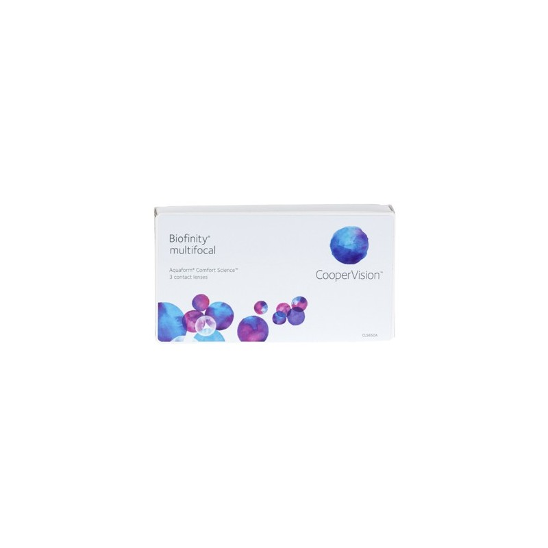 Miesięczne soczewki kontaktowe Biofinity® Multifocal 3szt CooperVision®