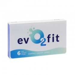evO2fit monthly contact lenses 6szt.