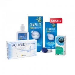 ACUVUE OASYS 6 szt. + płyn Complete RevitaLens 120 ml + krople Blink Contacts + płyn 60 ml GRATIS