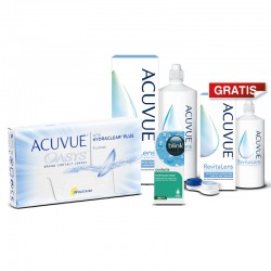 Acuvue Oasys 6 szt. + płyn Acuvue RevitaLens 360 ml + krople Blink Contacts + płyn 100 ml GRATIS