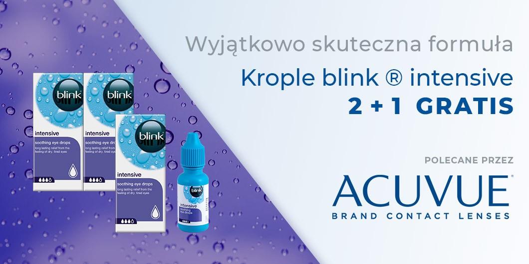 Promocja krople do oczu BLINK 2+1 GRATIS